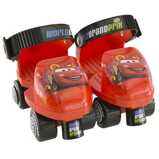 Disney's Cars Kid's Junior Size 6-12 Rollerskates with Knee Pads