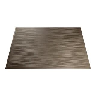 Fasade Ripple Argent Bronze 18 in. x 24 in. Backsplash Panel