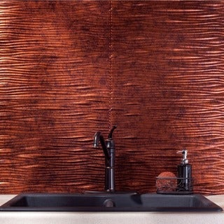 Fasade Waves Moonstone Copper 18 x 24-inch Backsplash Panel