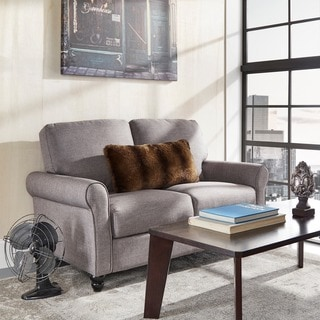 INSPIRE Q Dillion Urban Rolled Arm Upholstered Loveseat