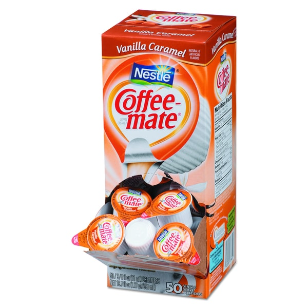 Coffee-mate Vanilla Caramel Liquid Coffee Creamer (Pack of 200)