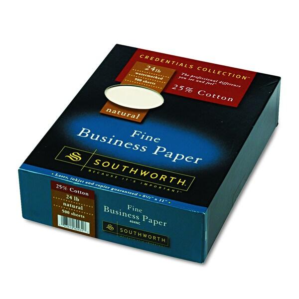Southworth 25% Cotton Natural 24 lb. Business Paper (Box of 500 Sheets)