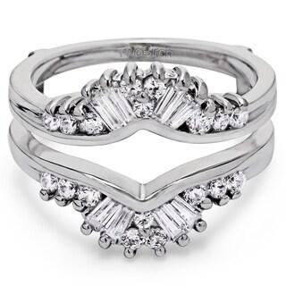 10k Gold 1/3ct TDW Diamond Fancy Style Chevron Jacket Ring (G-H, I1-I2)