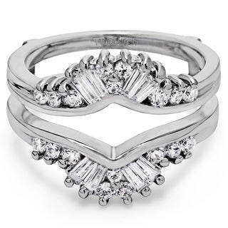 14k Gold 3/4ct TDW Diamond Fancy Style Chevron Jacket Ring (G-H, SI2-I1)