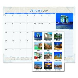 AT-A-GLANCE 2016 European Destinations Desk Pad Calendar
