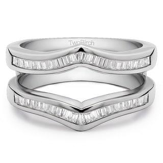 18k Gold 1 7/8ct TDW Diamond Classic Contour Style Ring Guard Enhancer (G-H, SI2-I1)