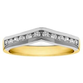 18k Gold 1/3ct TDW Diamond Classic Contour Wedding Ring (G-H, SI2-I1)