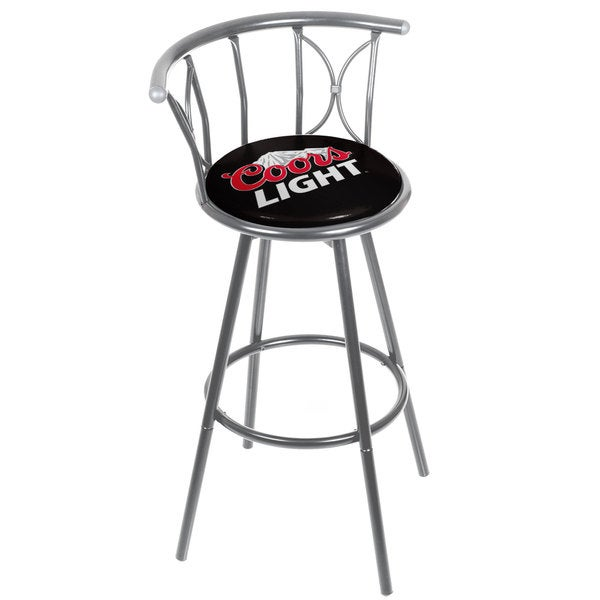 Trademark Games Coors Light Weatherproof Padded Outdoor Bar Stool