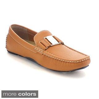 J's Awake Boston-21 Men's Comfort Driving Moccasin Style Slip On Loafers