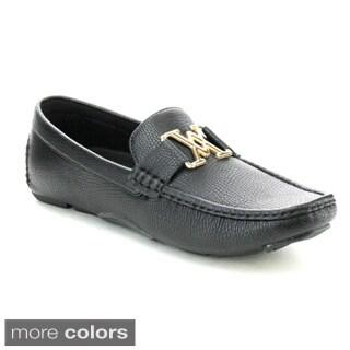 J's Awake Boston-23 Men's Comfort Driving Moccasin Style Slip On Loafers