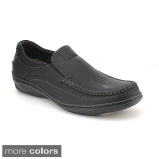 J's Awake Connor-02 Men's Stylish Slip On Padded Collar Moccasin Loafer