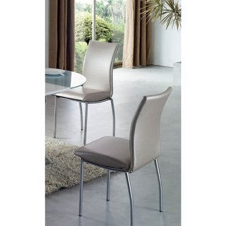 Luca Home Silver Dining Chairs (Pack of 4)