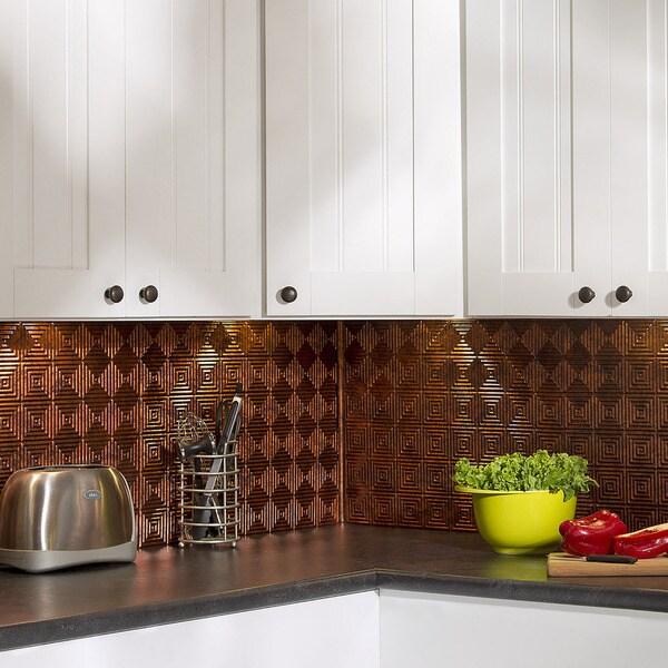 fasade miniquattro moonstone copper 18 x 24 inch