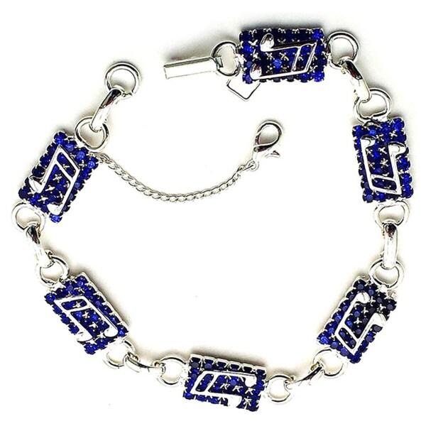 Detti Originals Blue Crystal Musical Note Bracelet