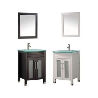 Figi 24-inch Single Sink Bathroom Vanity Set with Mirror and Facuet