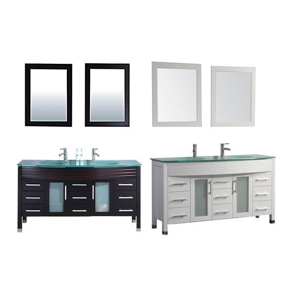 Mtd Vanities Monaco  Inch Double Sink Bathroom Vanity Set With