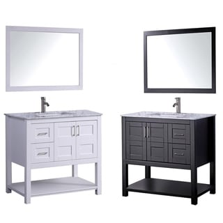 Norway 36-inch Single Sink Bathroom Vanity Set with Mirror and Faucet