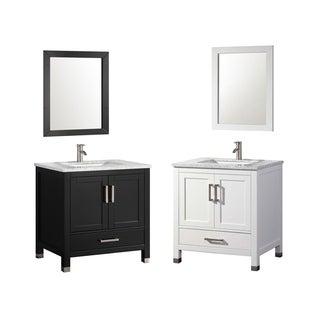 mtd vanities ricca 24 inch single sink bathroom vanity set with mirror