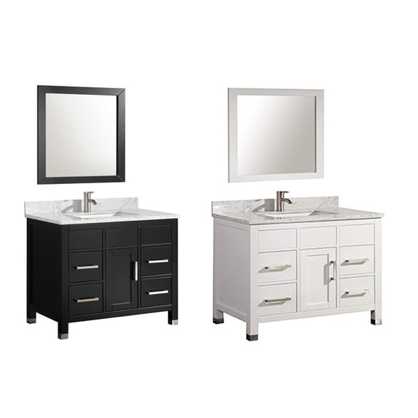MTD Vanities Ricca 36 Inch Single Sink Bathroom Vanity Set With Mirror And Fa
