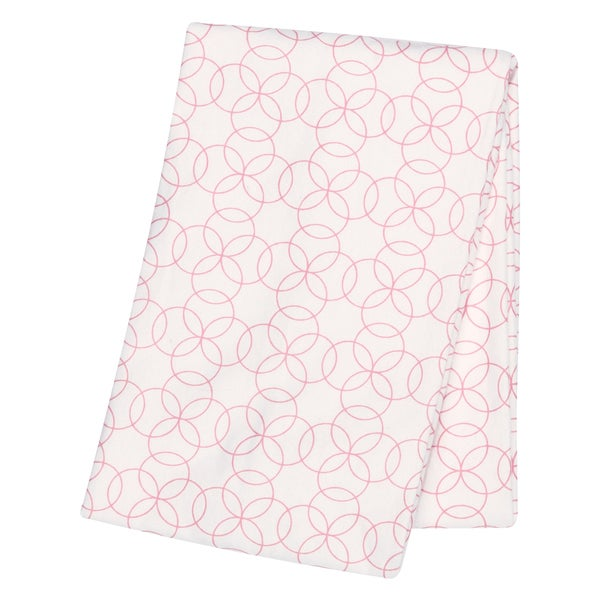 Trend Lab Pink Circles Deluxe Flannel Swaddle Blanket