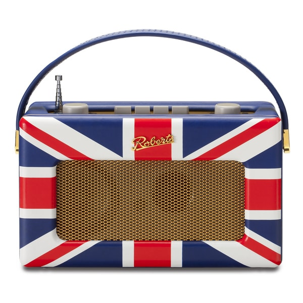 Robert's Radio 1950's Style Retro Union Jack Leather Radio
