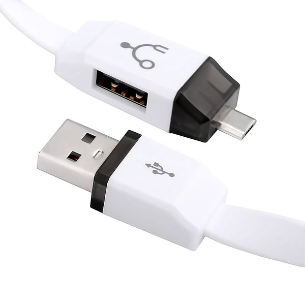 Insten Micro USB to USB OTG On-The-Go Host Adapter Cable with Standard USB Extension for Android/ Smartphone/ Tablet