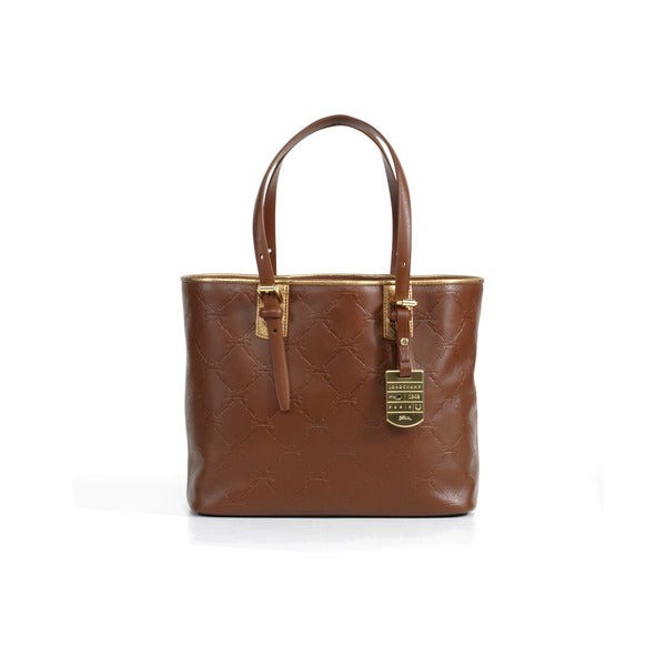 Longchamp Oak Brown LM Cuir Small Shoulder Bag