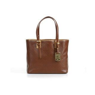 Longchamp Oak Brown LM Cuir Small Shoulder Bag