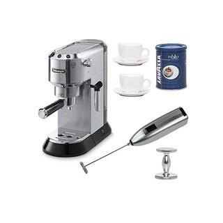 DeLonghi EC680 Dedica 15-Bar Pump Espresso Machine with Espresso Tamper Bundle