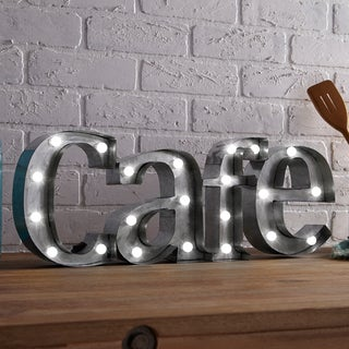 Apothecary & Company Metal LED 7.5 inch CAFE Marquee Sign