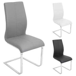 Dynasty Stainless Steel Dining Chair Black (Set of 2)