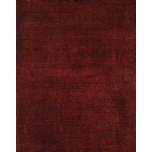Hand-knotted Overdyed Red Rug 12205 (8x10)