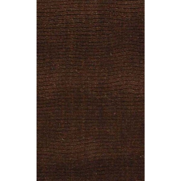 Verde high low textured rug 5x8 Choclate Handtufted