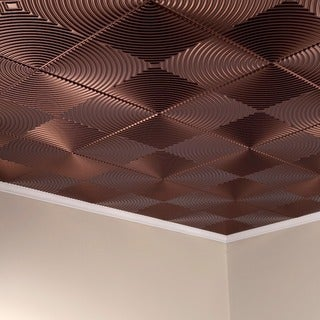 Fasade Echo Oil Rubbed Bronze 2 ft. x 2 ft. Glue-up Ceiling Tile