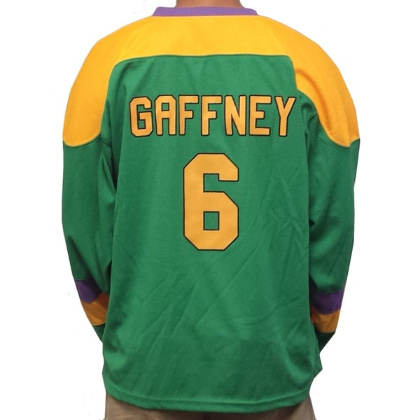 Julie The Cat Gaffney #6 Mighty Ducks Movie Hockey Jersey Goalie 90's Costume