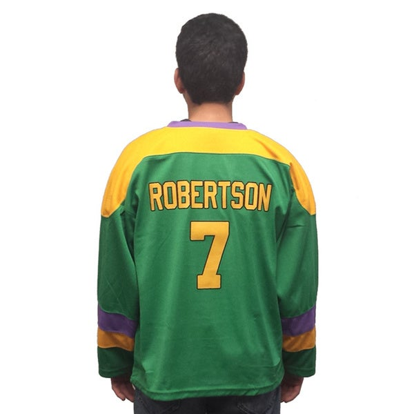Dwayne Robertson #7 Mighty Ducks Movie Hockey Jersey Costume D2 2 Cowboy
