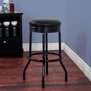 Retro Ribbed Swivel Bar Stool