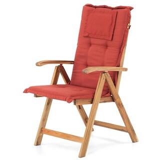 Beliani Toscana Solid Wooden Garden Chair - Adjustable Backrest
