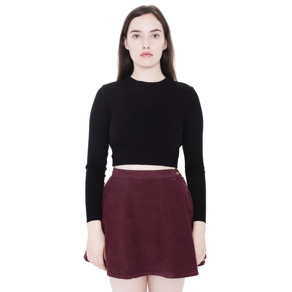 American Apparel Corduroy High Waist Circle Skirt