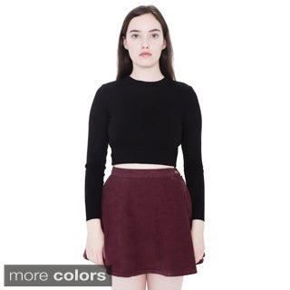 American Apparel Corduroy High Waist Circle Skirt