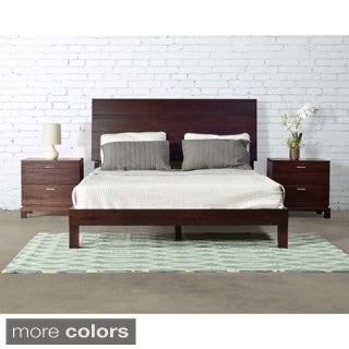 Daisy Queen Size Panel Platform Bed - Solid Wood