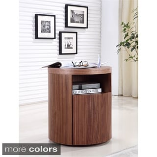 Casabianca Home AREA Collection Veneer Nightstand/ End Table by Talenti Casa