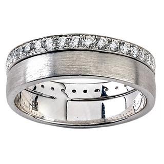 Diamonds for a Cure 18k White Gold 3/4ct TDW Diamond Eternity Band (G-H, VS1-VS2) (Size 7)