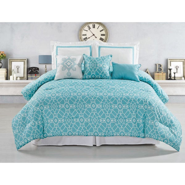 Hotel Crowne 6-piece Reversible Comforter Set