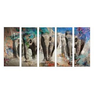 Ready2HangArt 'Saddle Ink Elephant IV' Canvas Wall Art
