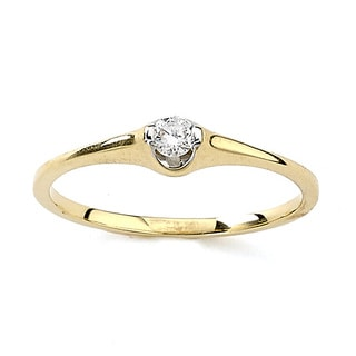 Diamonds for a Cure 18k Yellow Gold 1/10ct TDW Diamond Ring (G-H, VS1-VS2)