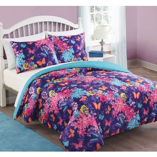 Bella Butterfly 3-piece Comforter Set