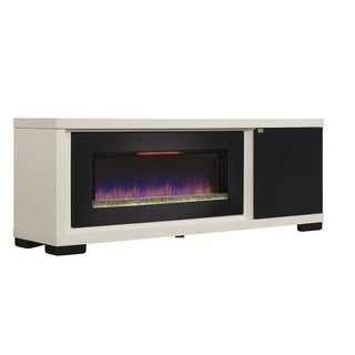 Classic Flame 47-inch Brickell Antique White Media Console