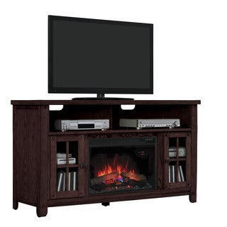 New Dakota 26-inch Indoor Premium Oak Electric Fireplace Media Mantel