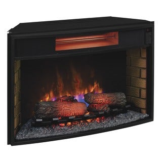 ClassicFlame 32II310GRA 32-inch Curved Infrared Quartz Fireplace Insert with Safer Plug